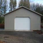 Overhead door with 45 angle framing